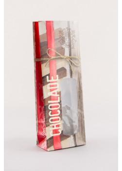 Chocoladezakken Brugge - Gevoerde blokbodemzak  - Zakken voor Chocolade