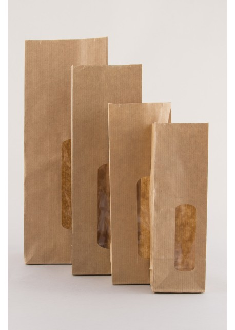 kraft zakken papieren zakjes zakjes van papier met venster
