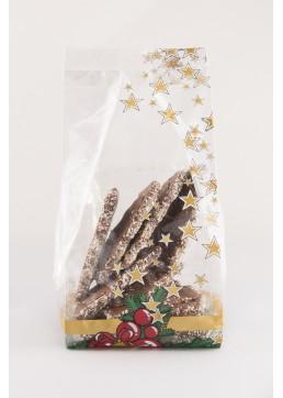 Harmonicazak Kerstklok - Zijvouwzak Kerstklok - Kerstzakje