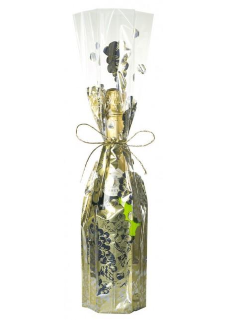 Wijnzak Ø 9,4 x 47 cm - Gouden Druiven