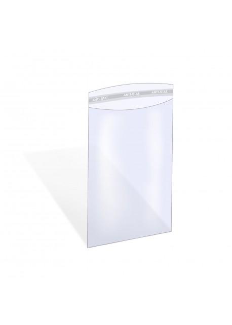 Zijlaszak - Zak met zijlas, klep en kleefstrook 128 x 180 + 40 mm